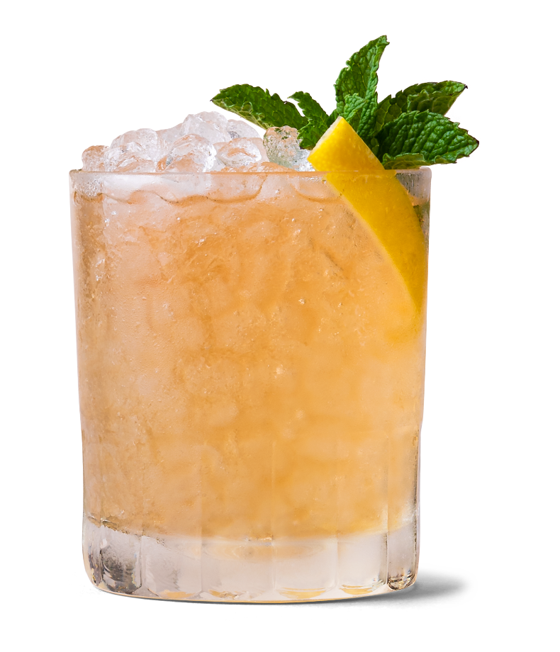 Whiskey Smash made with Canadian Mist